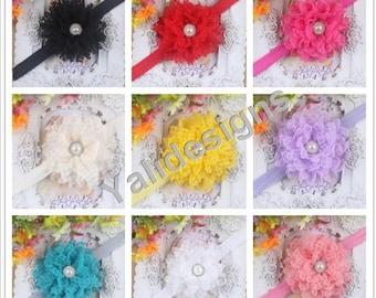 U Pick Wholesales Lace Pearl Flower Headband Baby Headbands. Newborns Headbands. Girl's Headband YTH25