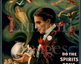 400 vintage images, MAGICIANS ACROBATS MUSICIANS, Victorian theater posters, digital ephemera, art occult hypnosis circus vaudeville houdini