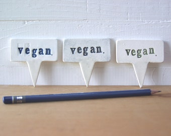 Vegan Cheese Party!  Set Of Three Vegan Cheese Markers.  Writeable, Eraseable.  In Random Colors.