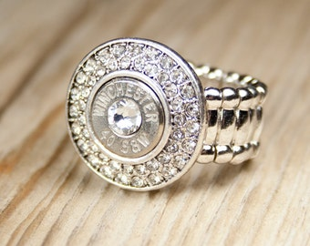 Bullet Ring / Fire & Ice 40 Caliber Bullet Ring Winchester WIN-40-N-FIR / Winchester Ring / Winchester Bullet Ring / Fire and Ice Ring