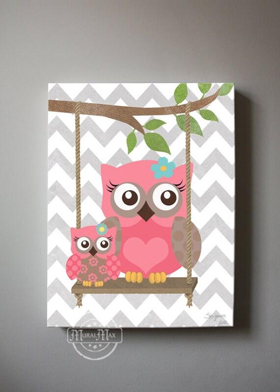 Superbe OWL Wall Art Nursery Canvas Canvas Art , Owl Decor Girl Wall Art   OWL  Canvas Art, Baby Nursery Purple Owl Art