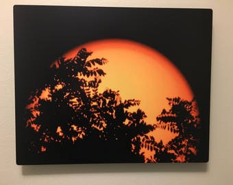Sunset Trees Astronomy Print Wall Art Gift