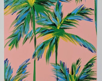 Lilly Pulitzer Inspired Modern Pink Palm Trees