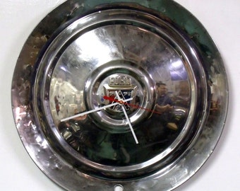 1953 Ford Hubcap Clock - 53 Ford Hub Cap - Classic Car Wall Decor
