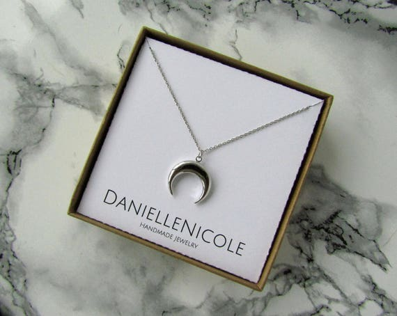 Moon Pendant Necklace, Statement Necklace, Everyday Jewelry, Boho Jewelry, Boho Necklace, Layering Necklace, Festival Jewelry, Boho Chic