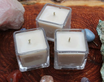 Three Sandalwood Vanilla Votive Candles