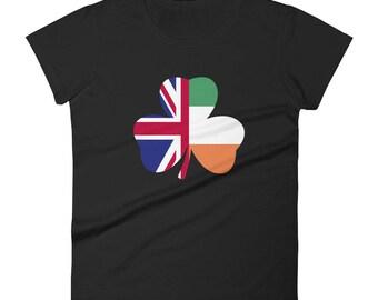 St Patricks Day Irish Flag British Flag Women's short sleeve t-shirt