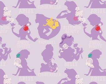 Disney Princess Purple Cameo Cotton Fabric