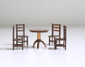 Micro Mini Table & Chairs, Micro Mini Table, Micro Mini Chairs, Miniature Table, Dollhouse Table, Micro Mini Furniture, Micro Mini Dollhouse