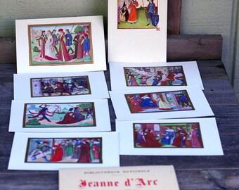 Jeanne d' Arc French Colored Illustration Postcard Booklet
