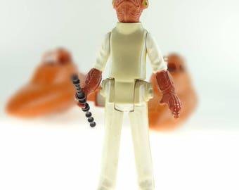 Star Wars Action Figure Admiral Ackbar With Staff 1982