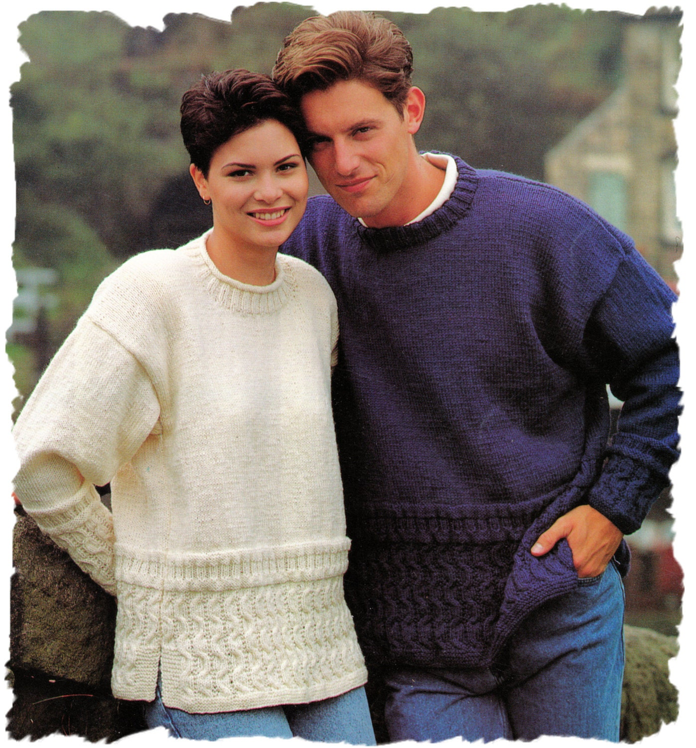 Instant Download PDF Knitting Pattern to make a Loose fit Guernsey ...