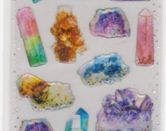 Crystal Stickers - Gemstone Stickers - Raised Stickers - Reference A5381