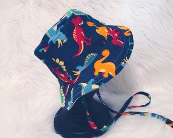 Dino Land Bucket Hat, Sun Hat, Sun Bonnet, Beach Hat