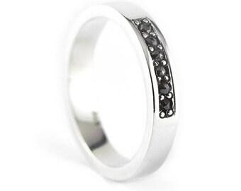 Black Diamond Ring Diamond Ring Mens Wedding Band Mens Ring Mens Wedding Ring Wedding Ring Set Mens Rings Wedding Band Mens Jewelry