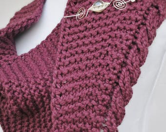 Apparent Cables Knit Shawl Pattern PDF Download