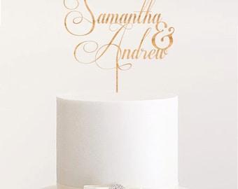 Custom name cake topper name wedding cake topper personalized rustic cake topper wedding unique cake topper romantic topper wooden topper