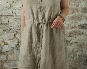 linen dress LAKE | custom length