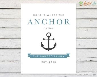 NAUTICAL DECOR, Nautical Wall Decor, Nautical Wall Art, Nautical Gifts, Nautical Wedding Gift, Nautical Anniversary Gift, Beach Decor