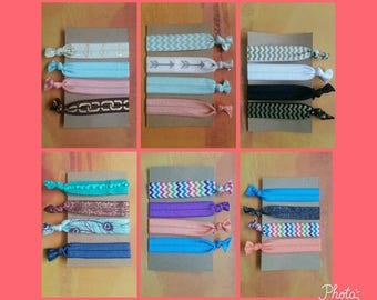 Cute elastic hair ties