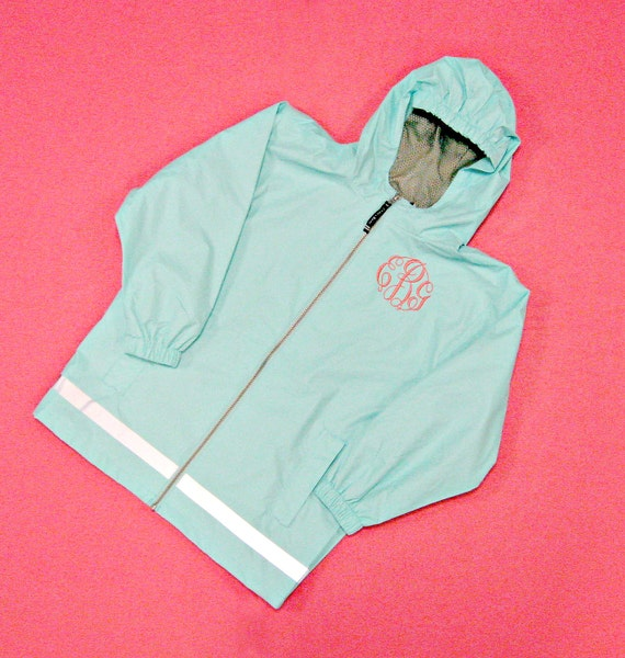 New Englander Monogrammed Rain Jacket in Youth Sizes