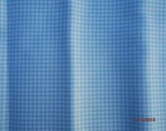 quilting fabric toga 100% cotton Plaid blue, white 54 x 45 cm