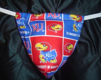 New Men's UNIVERSITY OF KANSAS College Gift Gstring Thong Male Lingerie Underwear