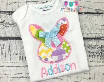 Baby Girl Easter Shirt - Easter Outfit - Girl Easter Shirt - Easter Egg Shirt - Easter Bunny Outfit - personalized easter shirt for girls