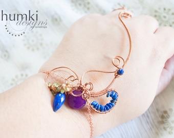 BESPOKE Meghaduta II /// slave bracelet by Jhumki luxe-designs by raindrops