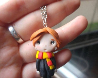 Polymer Clay pendant ron Weasley Fimo/craftsman/Necklace Pendant ron Weasley polymer clay/handmade/craftsman/clay Polymer