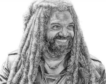 PRINT: Drawing of King Ezekiel