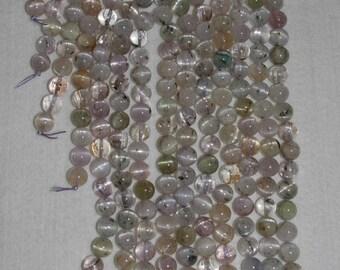 Kunzite, Kunzite Bead, Kunzite Smooth Bead, Natural Stone, Semi Precious, Multicolor Bead, Clear Kunzite, Half Strand, 10mm, AdrianasBeads
