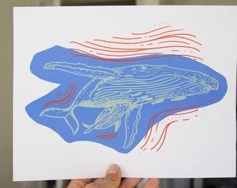 Humpback Whale Screen Print