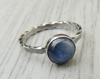Sterling silver Gemstone Stacking Ring - Sunstone, Obsidian, Kyanite, Labradorite