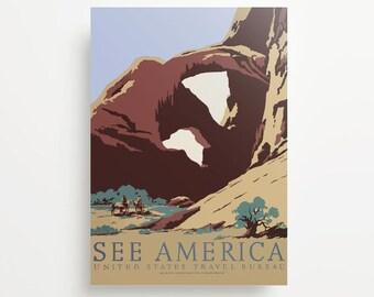 Vintage Travel Poster Southwest America USA Giclée Print