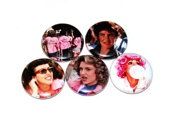 Pink Ladies 1inch Pinback Button or Magnet  Grease