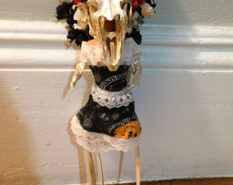 Rabbit Lady bone doll