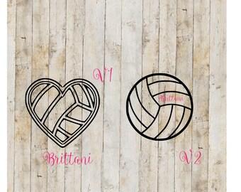 Volleyball decal, Volleyball YETI decal, Volleyball Team Decal, Personalized Volleyball Decal,Custom Volleyball Decal,Vinyl Volleyball Decal