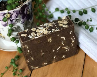 Oatmeal milk and honey homemade goat milk soap