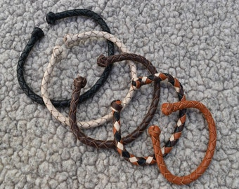 Copper Core Braided Leather Adjustable Bracelet, Mens Bracelet, Womens Bracelet