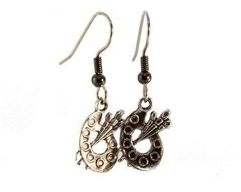 Gift for Artist - Earrings - Artist Gift - Painters Palette