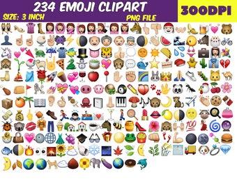 234 Emoji Clipart-PNG Emoji Clip Art-Emoji Collection-Printable Emoji Scrapbooking Clipart-Digital Emoji Animals-Smiley Face Photobooth
