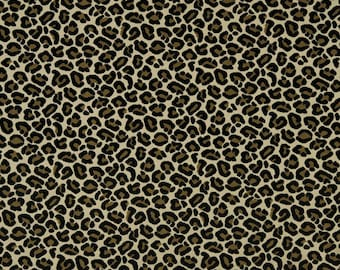 BEACON HILL CHEETAH Leopard Cut Velvet Fabric 10 Yards Brown Gold