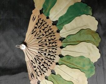 Custom order: Reproduction Silk Leaf fan