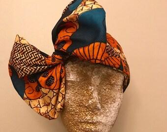 Tribal Print Kuchena Half Head Wrap
