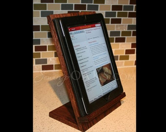Wooden IPad Stand, Wooden Tablet Recipe Stand, Kitchen