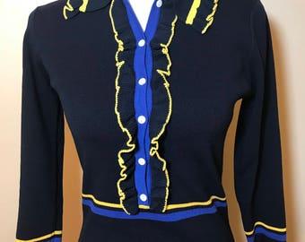 Brand New Ruffle Collar Knit Dress