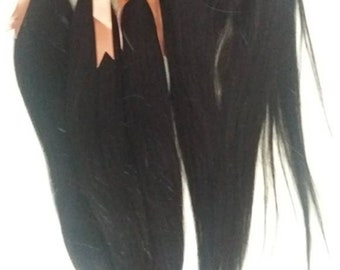 Brazilian human Hair, 3xBundles and 4x4 middle part lace closure. Grade 8A