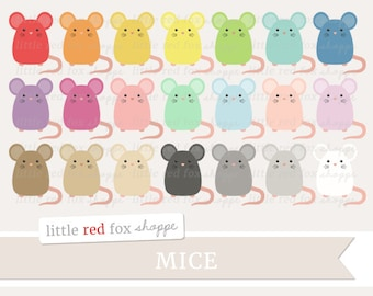 Mouse Clipart, Mice Clip Art Pet Animal Nursery Baby Farm Rat Hamster Rodent Icon Cute Digital Graphic Design Small Commercial Use