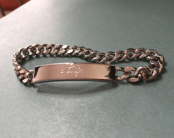 Vintage engraved Liz ID bracelet